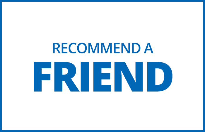 Recommend a Friend - Blue Hairdressing